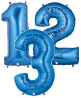 Zahlenballons blau 102 cm/ 40 inch