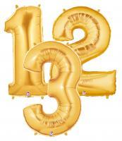 Zahlenballons gold 102 cm/ 40 inch