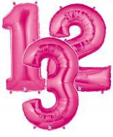 Zahlenballons pink 102 cm/ 40 inch