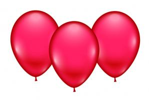 8 Balloons red