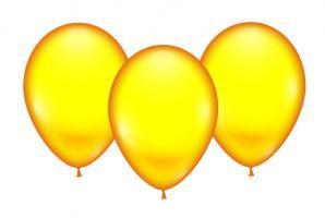 8 Ballons gelb