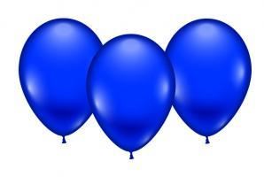 8 Balloons blue