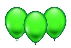 8 Ballons grün