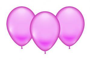8 Ballons rosa