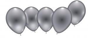 8 Ballons silber