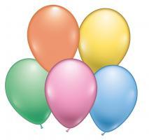 8 Pastell- Ballons sortiert / Pastel Balloons