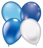 16 Ballons Home-Party-Mix blau/blue