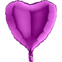 1 Foil Balloon Heart purple