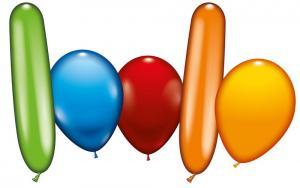 50 sortierte Ballons