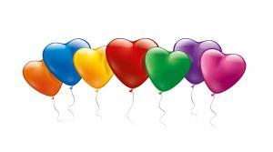 20 bunte Herzballons