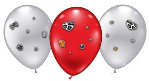 """4 Ballons/ Balloons """"Leopard Heart Jewels"""""""
