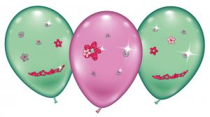 "4 Ballons/ balloons ""Flower Jewels""- Special price"