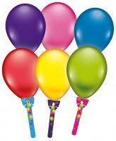 6 Ballons mit Halter/ Balloons with holder