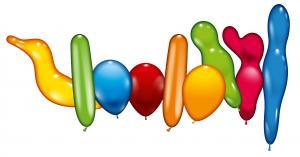 30 Ballons Bunte Mischung/ Balloons assorted