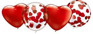 Konfetti-Ballon-Set / Confetti Balloons Set Heart