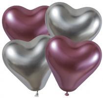 4 Herzballons glossy/ heart balloons shiny