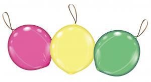 3 Punchballons neon/Punch balloons neon