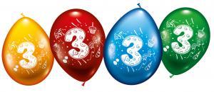 "8 Ballons ""3"""