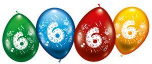"""8 Balloons """"6"""""""