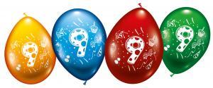 """8 Balloons """"9"""""""