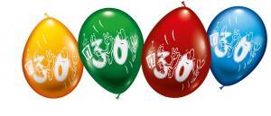"""8 Balloons """"30"""""""