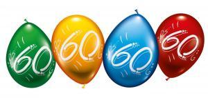 """8 Balloons """"60"""""""