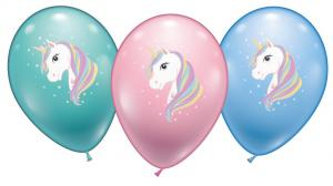 6 Ballons Einhorn