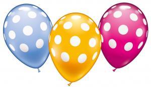 """6 Ballons """"Polka Dots"""""""
