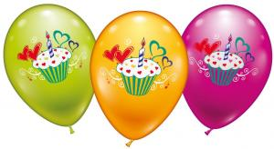 6 Balloons Cupcake - Special price