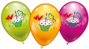 6 Ballons Cup Cake