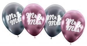 "4 Maxiballons/ Maxi Balloons ""Mr & Mrs"""