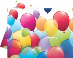 1 Tischdecke Flying Balloons