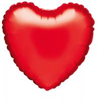 10 Folienballon Herz rot