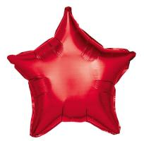 1 Foil Balloon Star red