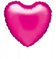 10 Folienballon Herz magenta