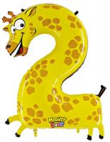 1 Foil Balloon Number 2 Giraffe