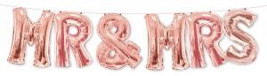 1 Foil Balloon Mr. & Mrs. rose gold - special price
