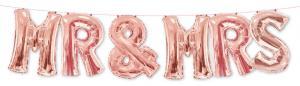 1 Folienballon Mr. & Mrs. rose gold -Sonderpreis -