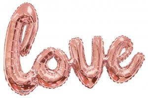 1 Foil Balloon Love rose gold