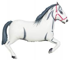 1 Foil Balloon White Horse