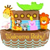 1 Foil Balloon Noah´s Ark Welcome Baby