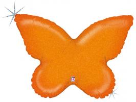 1 Folienballon Schmetterling  orange