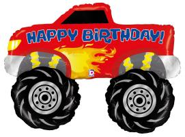 1 Folienballon Happy Birthday Monster Truck