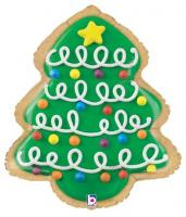 1 Foil Christmas Tree Cookie