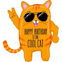 1 Foil Balloon Cool Cat Birthday