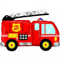 1 Foil Balloon Fire Truck