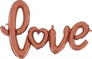 1 Folienballon Schriftzug Love rose gold - Sonderpreis