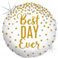 1 Folienballon Best day ever