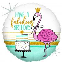 1 Folienballon Flamingo Birthday