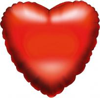 1 Foil Balloon heart red   (packed)